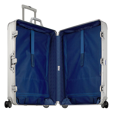 Buy Rimowa Topas Spinner Suitcase, Silver, Medium Online at johnlewis.com