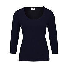 Buy Viyella 3/4 Sleeve Undersuiter, Navy Online at johnlewis.com