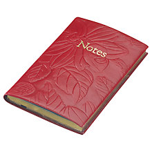 Buy Leathersmith Of London Regent Embossed Leather Notebook, Red Online at johnlewis.com