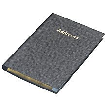 Buy Leathersmith Of London Regent Leather Address Book Online at johnlewis.com