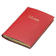 Buy Leathersmith Of London Chelsea Leather Notebook, Red Online at johnlewis.com
