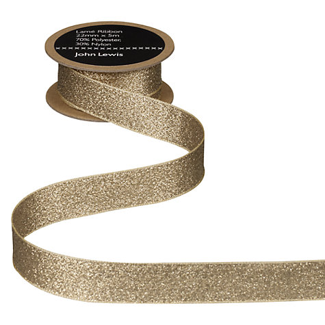 Buy John Lewis Lamé Ribbon Online at johnlewis.com