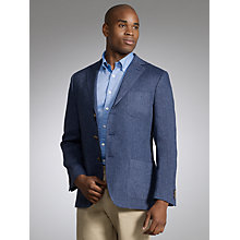 Buy Gant Herringbone Linen Blazer, Navy Online at johnlewis.com