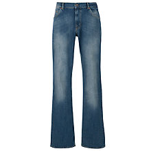 Buy Gant Connecticut Comfort Straight Jeans, Mid Rinse Online at johnlewis.com