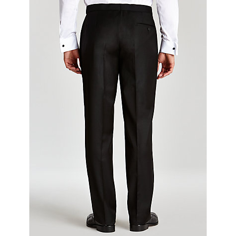 Buy John Lewis Shawl Wool Regular Fit Dress Suit Trousers, Black Online at johnlewis.com