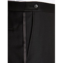 Buy John Lewis Victor Shawl Wool Regular Fit Dress Suit Trousers, Black Online at johnlewis.com