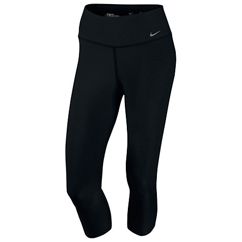 Buy Nike Legend Tight Capri Training Pants, Black Online at johnlewis.com