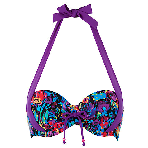 Buy John Lewis Jungle Floral Cupsize Bikini Top, Floral Online at johnlewis.com