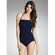 Buy John Lewis Bandeau Control Swimsuit, Indigo Online at johnlewis.com