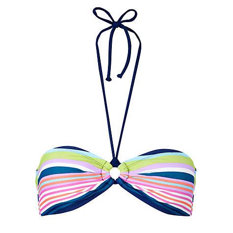 Buy John Lewis California Stripe Bandeau Bikini Top, Stripe Online at johnlewis.com