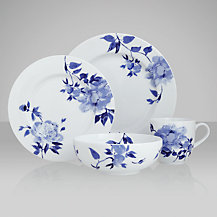 John Lewis Blue Rose Tableware