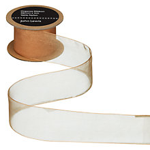 Buy John Lewis Woven Edge Organza Ribbon Online at johnlewis.com