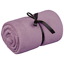 Buy John Lewis Fleece Throw, L150 x W200cm Online at johnlewis.com