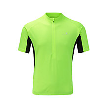 Buy Ronhill Bike Short Sleeve Zip T-Shirt, Fluo Yellow Online at johnlewis.com