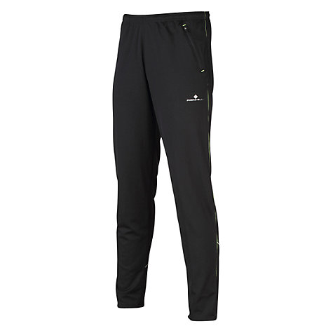 Buy Ronhill Men's Bikester Evolution Trousers, Black/Pink Online at johnlewis.com