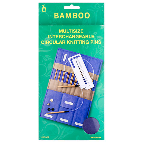 Buy Pony Bamboo Multisize Interchangeable Circular Knitting Needles Kit Online at johnlewis.com