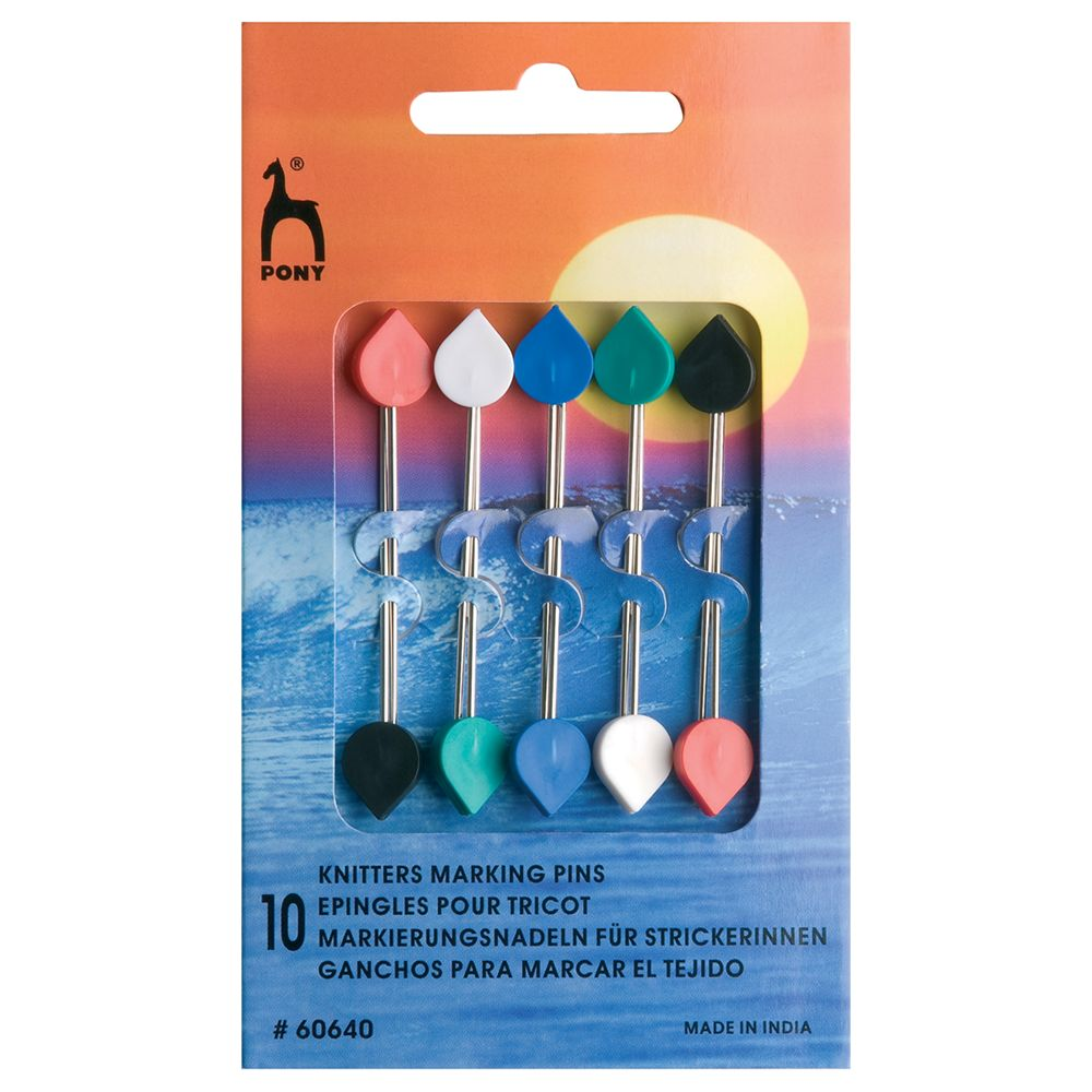 Pony Pony Knitters Marker Pins, Pack of 10