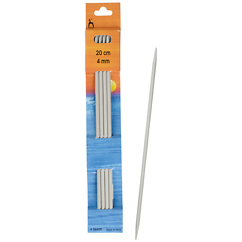 Buy Pony 20cm Knitting Needles, Pack of 4, Assorted Widths Online at johnlewis.com