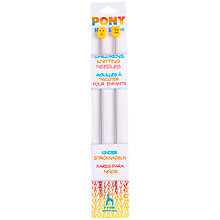 Buy Pony Children's 18cm Knitting Needles, Pack of 2, Assorted Widths Online at johnlewis.com