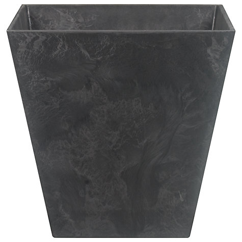 Buy Artstone Ella Planters, Black Online at johnlewis.com