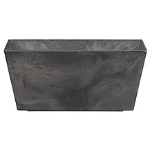 Buy Artstone Ella Plant Trough, Black, Large Online at johnlewis.com