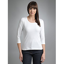 Buy Betty Barclay ¾ Sleeve Round Neck T-Shirt, White Online at johnlewis.com