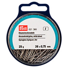 Buy Prym Household Pins, 0.75 x 26mm, 25g Tub Online at johnlewis.com