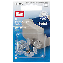 Buy Prym Loose Cover Twist Pins, Pack Of 10 Online at johnlewis.com