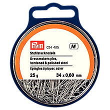 Buy Prym Dressmakers Pins, 0.60 x 34mm, 25g Tub Online at johnlewis.com