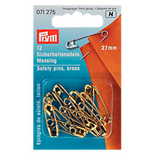 Buy Prym Safety Pins, Brass, 27mm, Pack of 12 Online at johnlewis.com