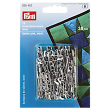 Buy Prym Silver Coloured Safety Pins, 38mm Online at johnlewis.com