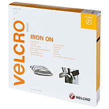 Buy Velcro Iron-On White Hook And Loop Fastener Online at johnlewis.com