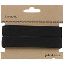 Buy John Lewis Woven Elastic, Black Online at johnlewis.com