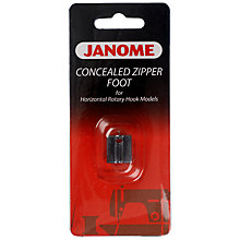 Buy Janome Concealed Zipper Foot, Horizontal Rotary Hook Models Online at johnlewis.com