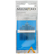 Buy Milward Betweens Quilting Needles, Sizes 3-9, Pack of 20 Online at johnlewis.com