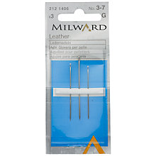 Buy Milward Leather Sewing Needles, Sizes 3-7, Pack of 3 Online at johnlewis.com