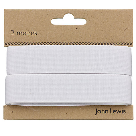 Buy John Lewis Woven Elastic, White Online at johnlewis.com