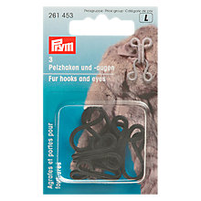 Buy Prym Faux Fur Hook & Eye, Black Online at johnlewis.com