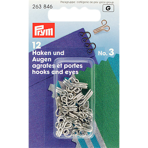 Buy Prym Hooks and Eyes, Pack of 12 Online at johnlewis.com