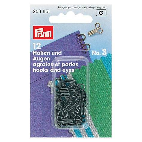 Buy Prym Brass Hooks And Eyes, Black Online at johnlewis.com