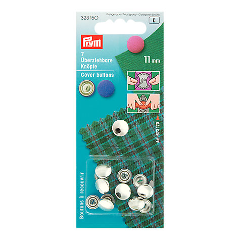 Buy Prym Metal Cover Buttons, 11mm, Pack of 7 Online at johnlewis.com