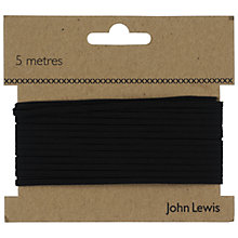 Buy John Lewis 4 Corded Elastic, Black Online at johnlewis.com