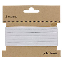 Buy John Lewis 4 Corded Elastic, White Online at johnlewis.com