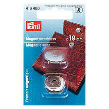 Buy Prym Magentic Snap Fasteners, Silver Colour, 19mm Online at johnlewis.com