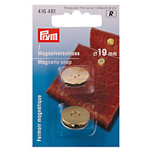 Buy Prym Magentic Snap Fastener, Gold Colour, 19mm Online at johnlewis.com