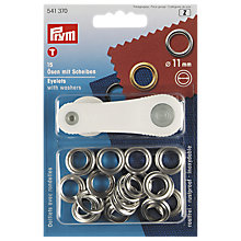 Buy Prym Metal Eyelets and Washers, 11mm, Pack of 15, Silver Online at johnlewis.com