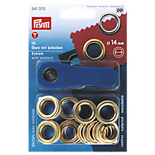 Buy Prym Metal Eyelets and Washers, 14mm, Pack of 10, Gold Online at johnlewis.com
