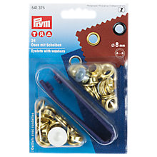 Buy Prym Brass Eyelets and Washers, 8mm, Silver, Pack of 24 Online at johnlewis.com