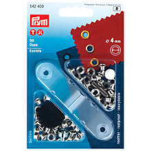 Buy Prym Brass Metal Eyelets, Silver, 4mm, Pack of 50 Online at johnlewis.com