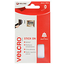 Buy Velcro Stick On Tape, White, 20mm x 50cm Online at johnlewis.com